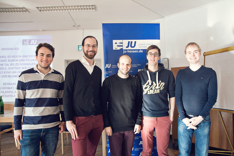 Gruppenfoto (v. li.): Fabian Beine, Christian Frederik Oberlis, Frederic Schneider, Jan Christopher Henze, Jens D. Fleck