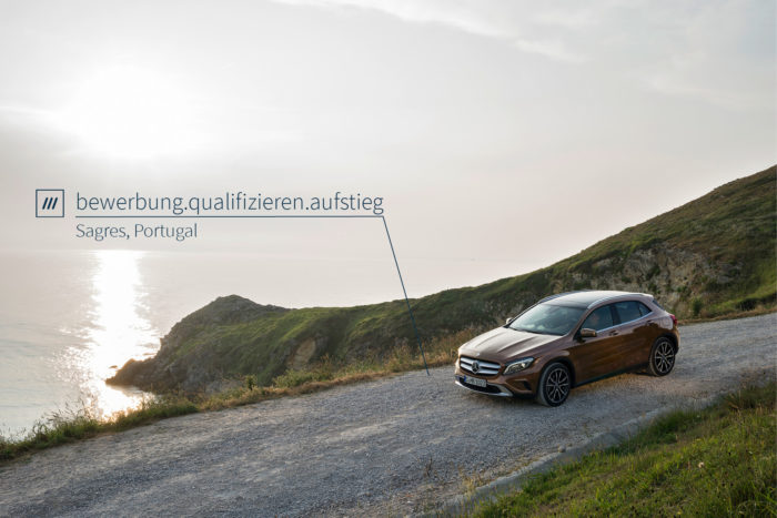 Bild: Mercedes Benz/what3words