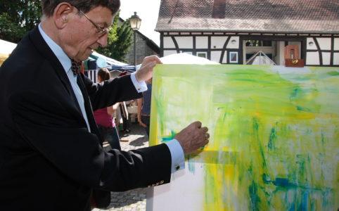 Prof. Dr. Heimz Riesenhuber auf dem Eschborner Eschenfest 2009